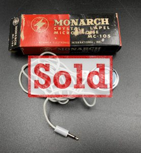 "<span class=""entry-title-primary"">Monarch Crystal Microphone MC-105 (Made in Japan)</span> <span class=""entry-subtitle"">sold</span>"